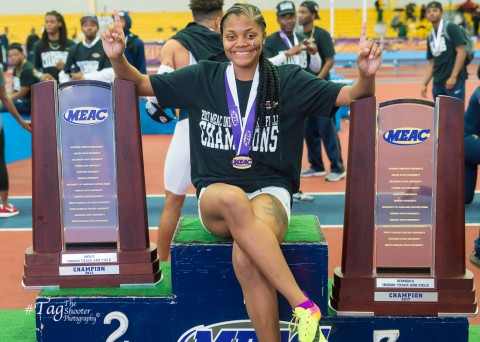 NC A&T Aggies win 2017 MEAC Indoor Track and Field