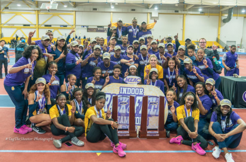 NC A&T Aggies win 2018 MEAC Indoor Track and Field